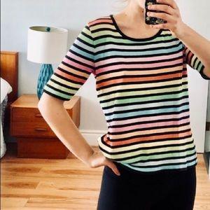 Parkhurst Rainbow Striped Knit Tee
